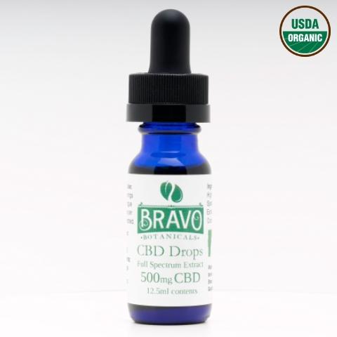 Bravo Botanicals CBD Drops 500 mg
